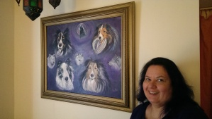 Caryn and her Shetland Sheepdog's Portrait