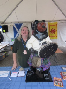 Me at the NH Highland Games...and a friend