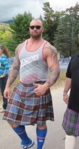 Even athletes wear kilts!