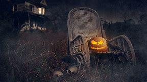 pumpkin in chair